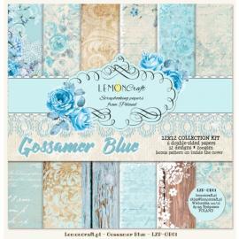 Дизайнерска хартия, блокчe - Glossamer Blue 12х12 инча