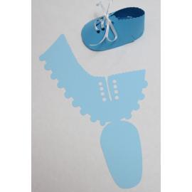 Бебешка обувка, светлосиня