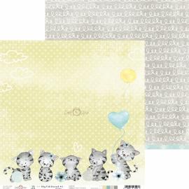 Дизайнерска хартия, 12x12 - My Cat Friend 3