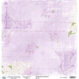 Дизайнерска хартия, лист - Винтидж 07