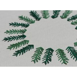 Хартиени елементи - клончета и листа, зелени