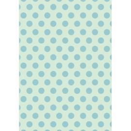 Дизайнерска хартия, А4 - Големи точки, тюркоаз 2