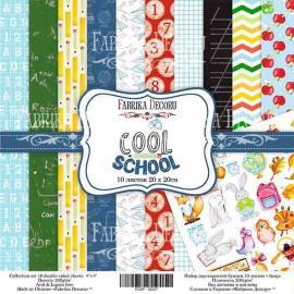 Дизайнерска хартия, блокче Cool School 8x8 инча