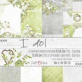 Дизайнерска хартия, блокче 12x12- I do