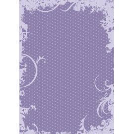 Дизайнерска хартия, А4 - Точки с орнаменти, лилаво 7