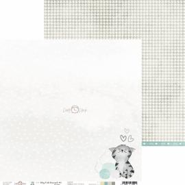 Дизайнерска хартия, 12x12 - My Cat Friend 5