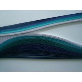Квилинг лентички - синя гама, 4мм, 50см