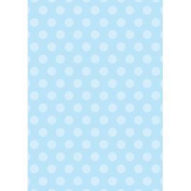 Дизайнерска хартия, А4 - Големи точки, синьо 1