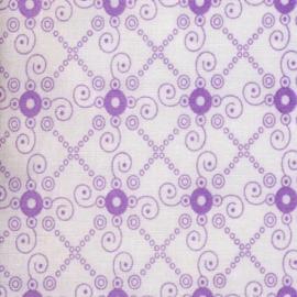 Tante Ema - Бяло платче с лилави орнаменти