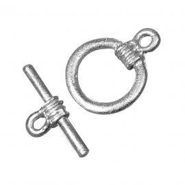 Закопчалка,пръчица-сребърна14мм