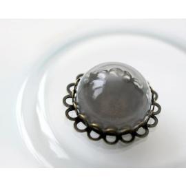 Стъклена висулка - медальон антик 1, 25 мм