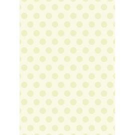 Дизайнерска хартия, А4 - Големи точки, лайм 2