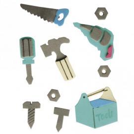 Стикер 3 Д - топери инструменти