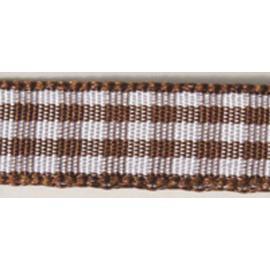 Карирана панделка - тъмно кафява