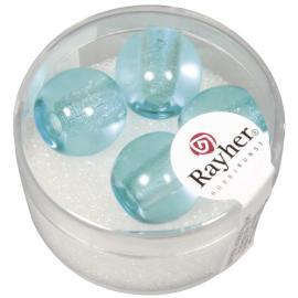 Стъклени мъниста в кутийка 14мм-сини