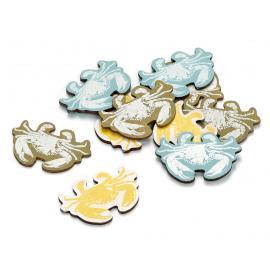 Декоративни елементи - морски рачета, 12 броя