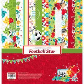 Дизайнерска хартия, блокче 12x12 - Football Star