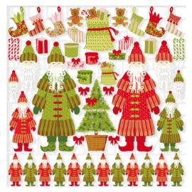 Детайлни хартиени елементи - Дядо Коледа