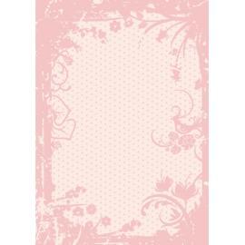 Дизайнерска хартия, А4 - Точки с орнаменти, пудра 3