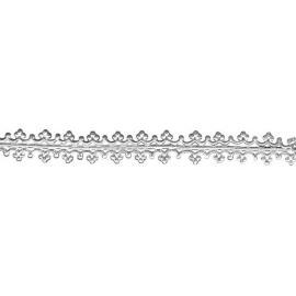 Стикери за свещи сребро, 1,6 х 15 см