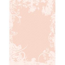 Дизайнерска хартия, А4 - Точки с орнаменти, праскова 10