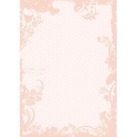Дизайнерска хартия, А4 - Точки с орнаменти, праскова 1