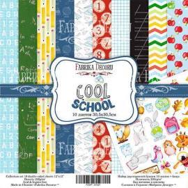 Дизайнерска хартия, блокче Cool School 12x12 инча