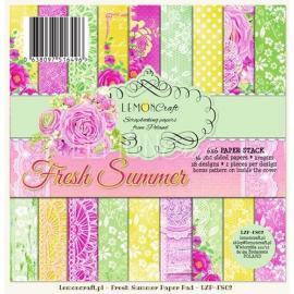 Дизайнерска хартия, блокчe - Fresh summer 6х6 инча