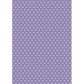 Дизайнерска хартия, А4 - Средни точки, лилаво 1