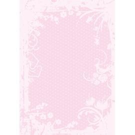 Дизайнерска хартия, А4 - Точки с орнаменти, розово 8