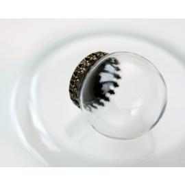 Стъклена висулка - топка, 20 мм