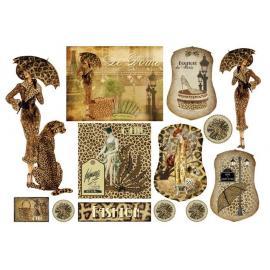 Оризова хартия 33х48см-Дамата с леопарда