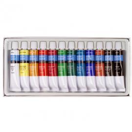 Акварелни бои, комплект 12х12 мл