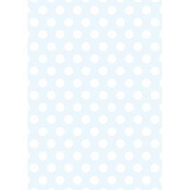 Дизайнерска хартия, А4 - Големи точки, синьо 3