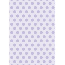 Дизайнерска хартия, А4 - Големи точки, лилаво 2