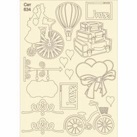 Бирен картон - сет 634 пътешествие