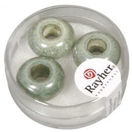 Стъклени мъниста 16мм-зелени