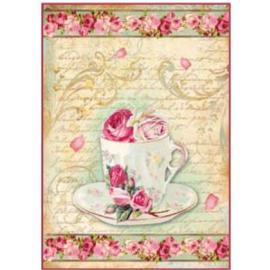 Оризова хартия А4 чай и рози