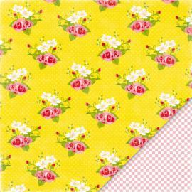 Дизайнерска хартия - жълти рози