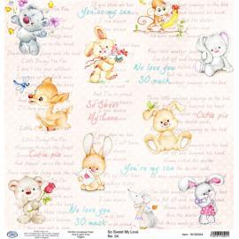 Дизайнерска хартия, лист - So sweet my love 04