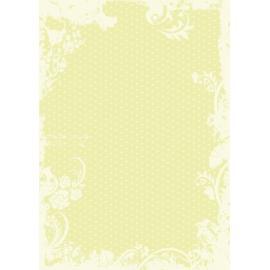 Дизайнерска хартия, А4 - Точки с орнаменти, лайм 6