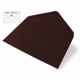 Японска хартия, плик, тъмнокафяво