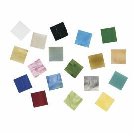 Стъклена мозайка, микс 1,5 см, 1 кг