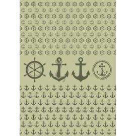 Дизайнерска хартия, А4 - Морски спомени 9
