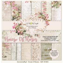 Дизайнерска хартия, блокчe - House of roses 12х12 инча