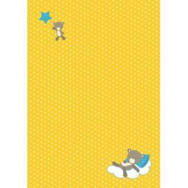 Дизайнерска хартия, А4 - бебе-мече на възглавничка