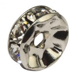 Кристални елементи за гривни-сребърни2бр.