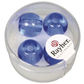 Стъклени мъниста в кутийка 14мм- светло сини
