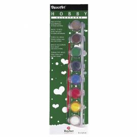 Комплект акрилни бои-основни цветове