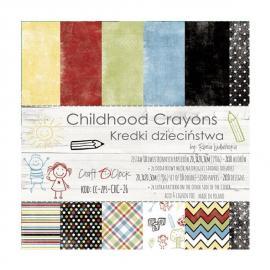 Дизайнерска хартия, блокчe - Childhood Crayons, 8x8 инча